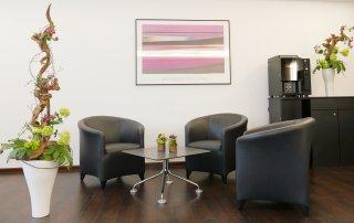 Warteraum Rheintor-Klinik
